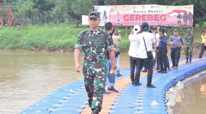 HUT Kodam Jaya Ke-70, Batalyon Arhanud 1/PBC/1 Kostrad Terjunkan Personil Grebek Cisadane