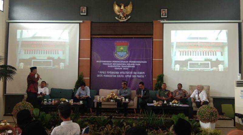 Pembentukan Kota Tangerang Tengah Berkumandang di Musrenbang Kecamatan Kelapa Dua