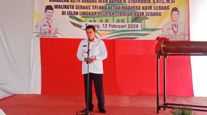 Walikota Serang Letakkan Batu Pertama Musholla Kwarcab Kota Serang