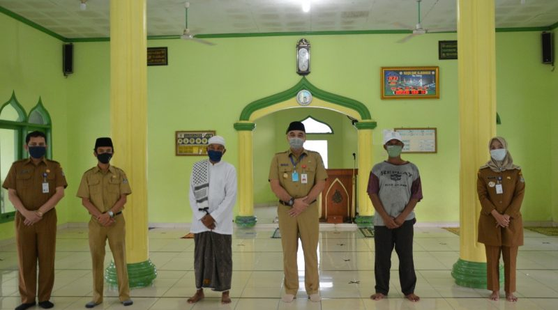 Bupati Zaki Tinjau Masjid Terapkan Standar Protokol Kesehatan Covid-19