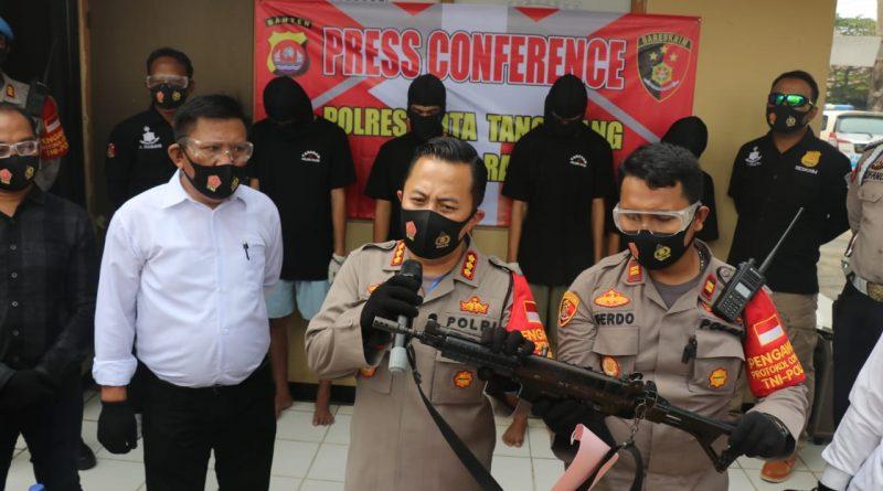 Keroyok dan Rebut Senjata Anggota Polisi, 4 Pemuda Dibekuk Polresta Tangerang