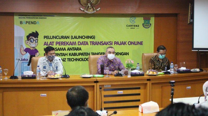 Bupati Tangerang Launching Alat Perekam Data Transaksi Pajak Daerah