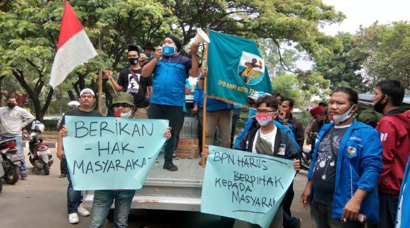 Banyak Persoalan Lahan Diduga Ulah Mafia Tanah, KNPI Gerudug Kantor BPN