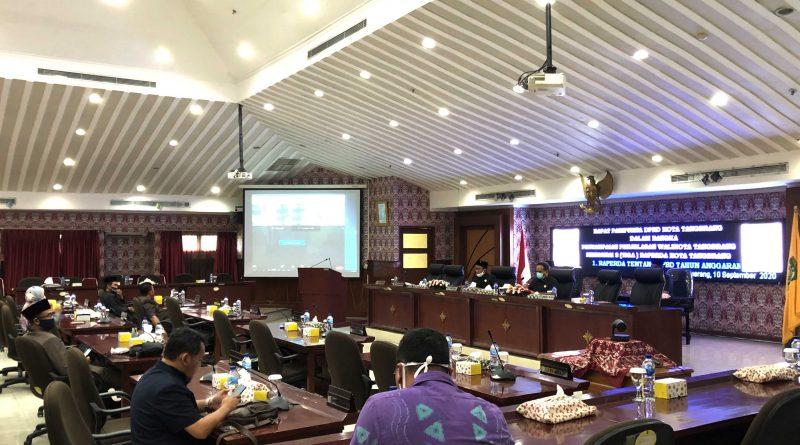 Wali Kota Tangerang Sampaikan Tiga Raperda Pada Rapat Paripurna DPRD
