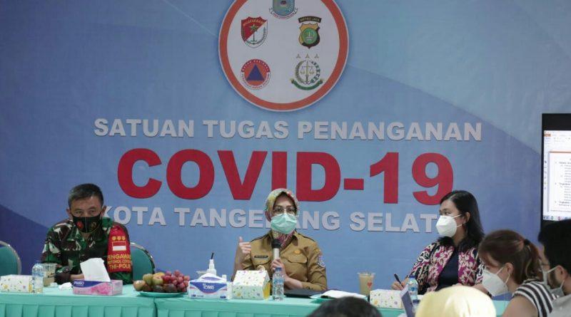 Walikota Tangerang Selatan Evaluasi Penanganan Covid-19
