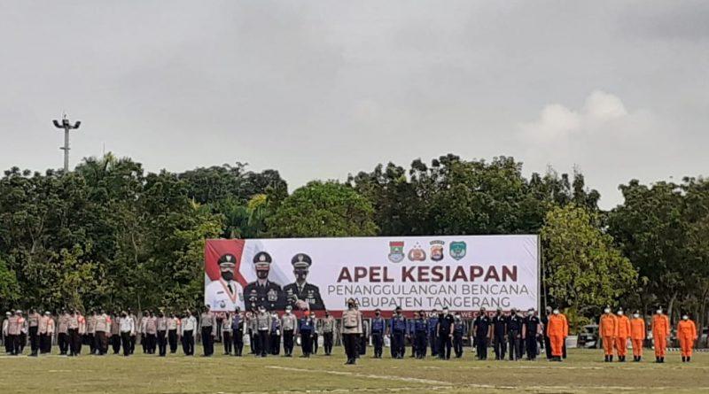 Jajaran Polresta Tangerang Ikuti Apel Siaga Penanggulangan Bencana