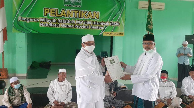 Pengurus RMI Banten Dilantik, Kyai Imad: Kita Lawan Upaya Menyusupkan Paham Radikal ke Pesantren