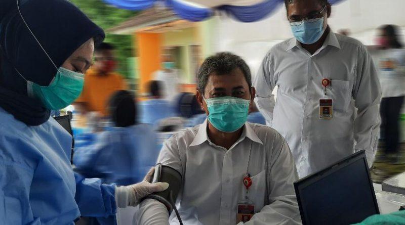 Lancar, Pelaksanaan Vaksinasi ASN Pelayanan Publik Pemprov Banten