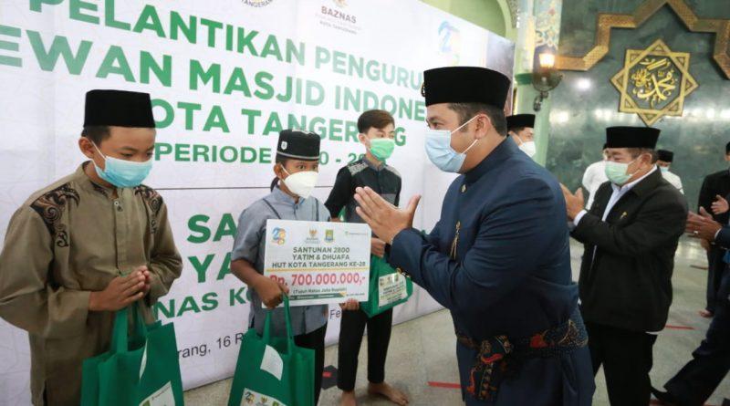Walikota Tangerang Hadiri Pelantikan Pengurus DMI Periode 2020-2025