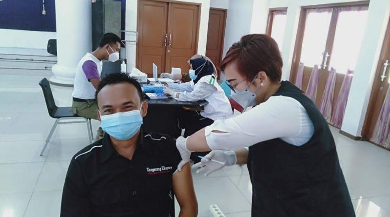 20 Wartawan Kabupaten Tangerang Disuntik Vaksin Covid-19