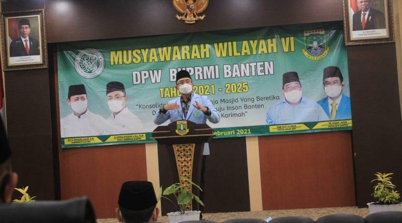 Buka Muswil VI BKPRMI Banten, Wagub Andika Ajak Remaja Mesjid Lawan Covid-19