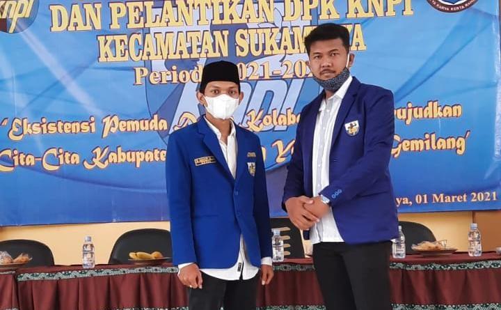 Sah dilantik, DPK KNPI Sukamulya Siap Lanjutkan Program Pemuda
