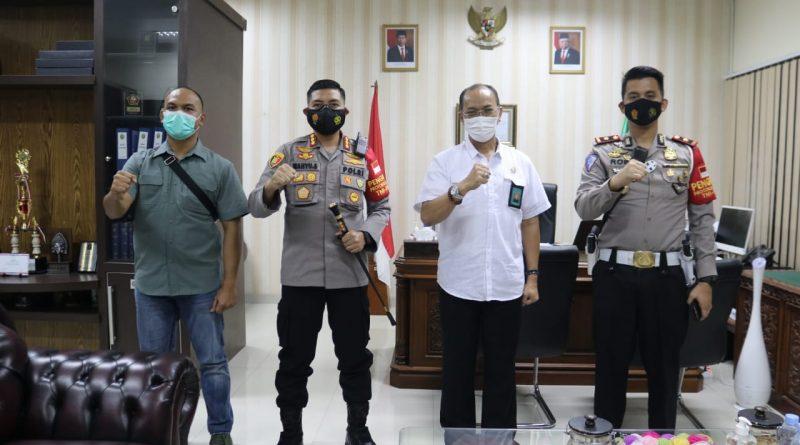 Kapolresta Tangerang Silaturahmi ke Ketua PN Tangerang