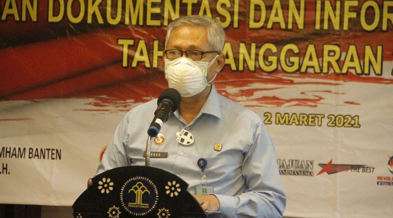 Kanwil Kemenkum dan HAM Banten Gelar Kegiatan Peningkatan Asistensi Penggunaan Layanan Informasi JDIH 2021