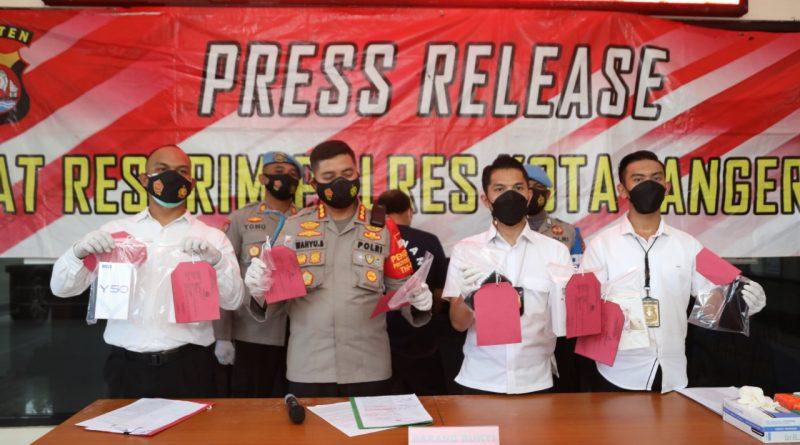 Satuan Reskrim Polresta Tangerang Bekuk DPO Curanmor dan Spesialis Bobol Rumah