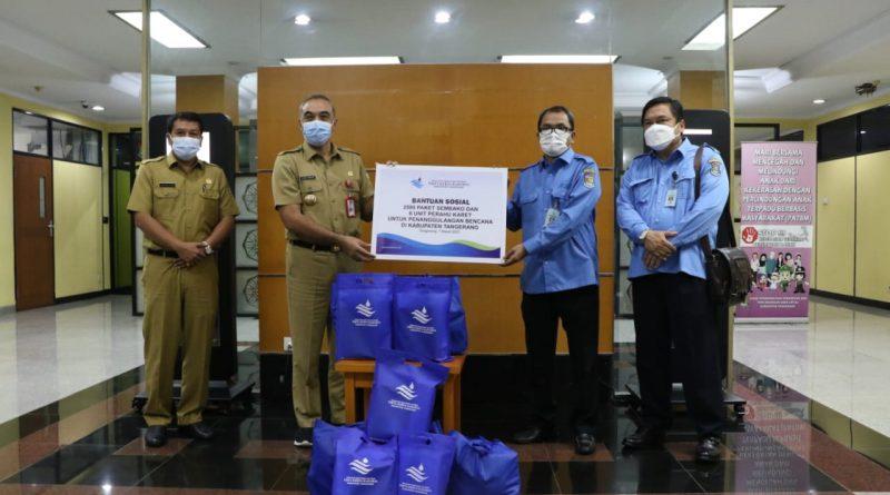 Bupati Tangerang Terima Langsung Bantuan CSR Dari Perumdam TKR
