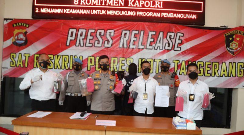 Polresta Tangerang Ringkus Pelaku Pencuri Motor