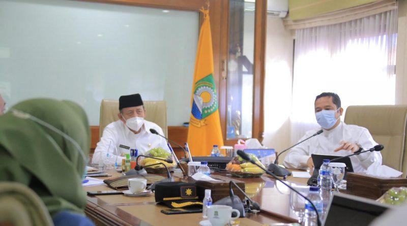 Gubernur dan Walikota Bahas Penanganan Covid-19 di Kota Tangerang